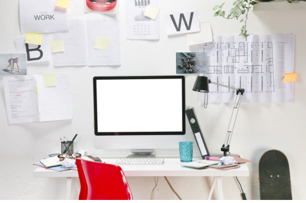 "9 ways to ""organize a desk, Work from Home"", looks good"